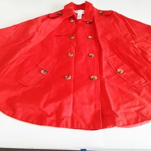 Forever 21 Red Poncho Womens Sz Medium